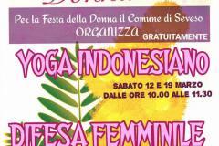 DIFESA FEMMINILE E YOGA INDONESIANO